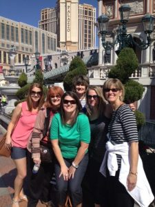 Family-Campbell-girls-in-Vegas-2014-Palazzo-sign-outdoors
