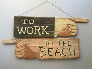 Family - Newport Beach To The Beach sign